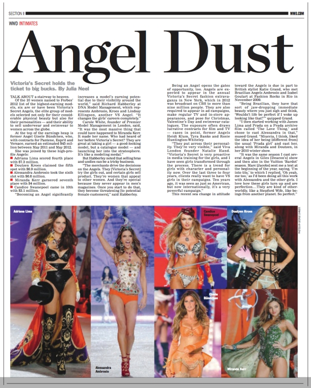 WWD, feature on the effect that Victoria's Secret has on models' careers