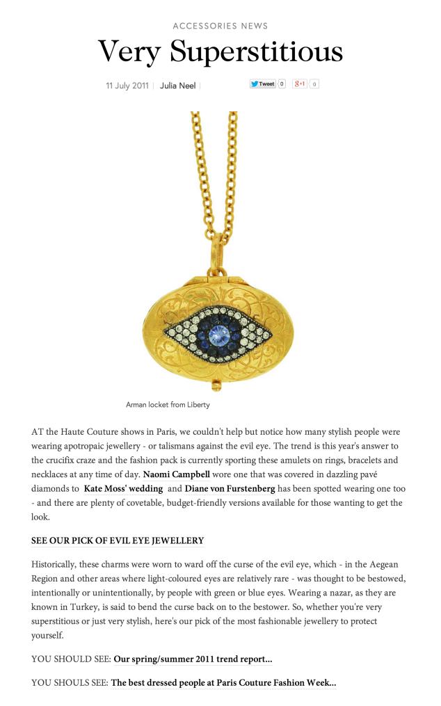 Vogue.com, Talismanic Jewellery