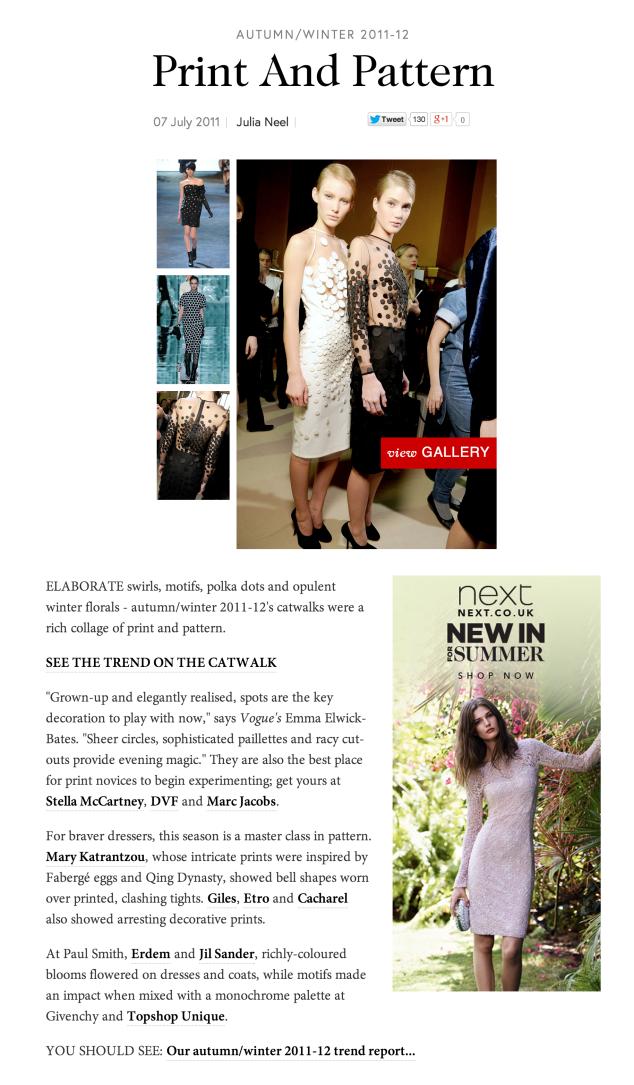 Vogue.com, Print & Pattern Trend